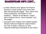 shakespeare info cont1