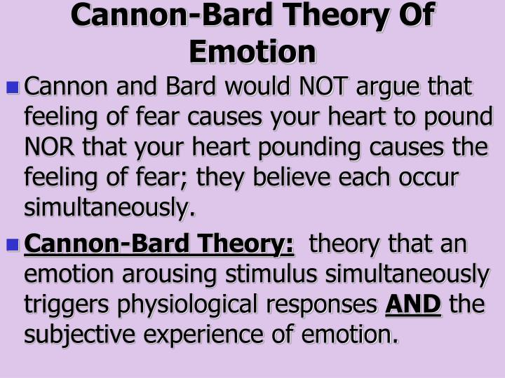 advantages of cannon bard theory