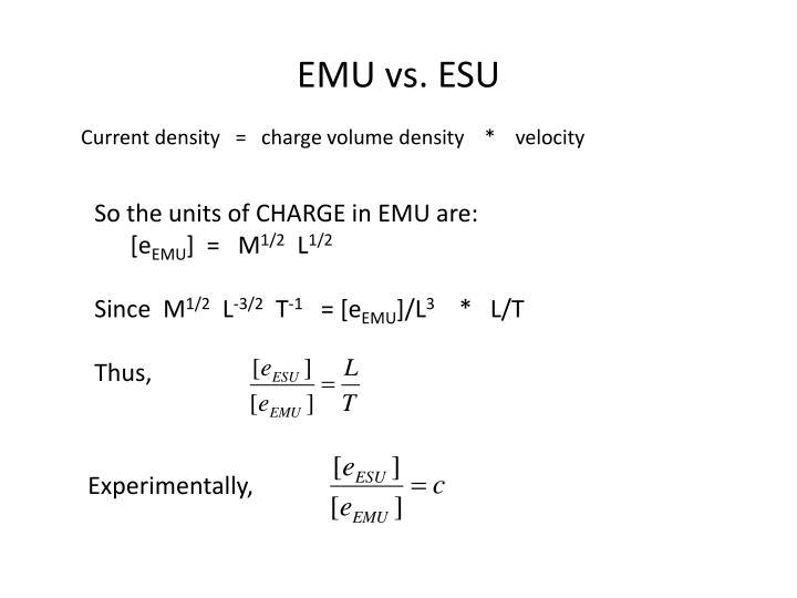 EMU vs. ESU