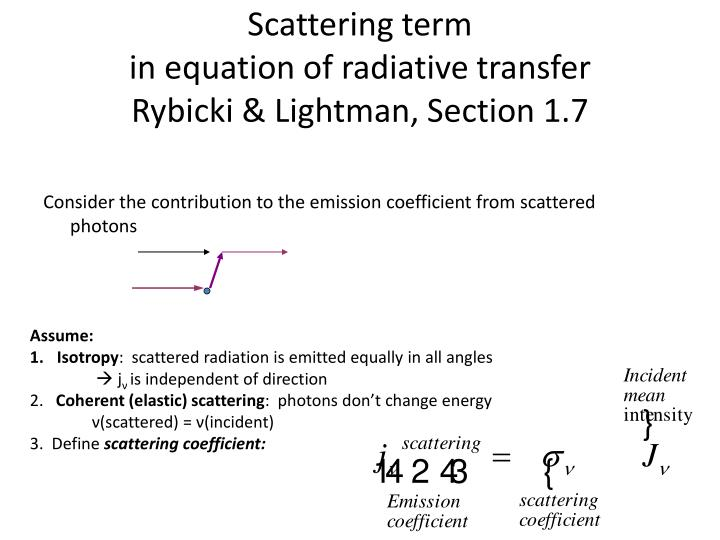 Scattering term