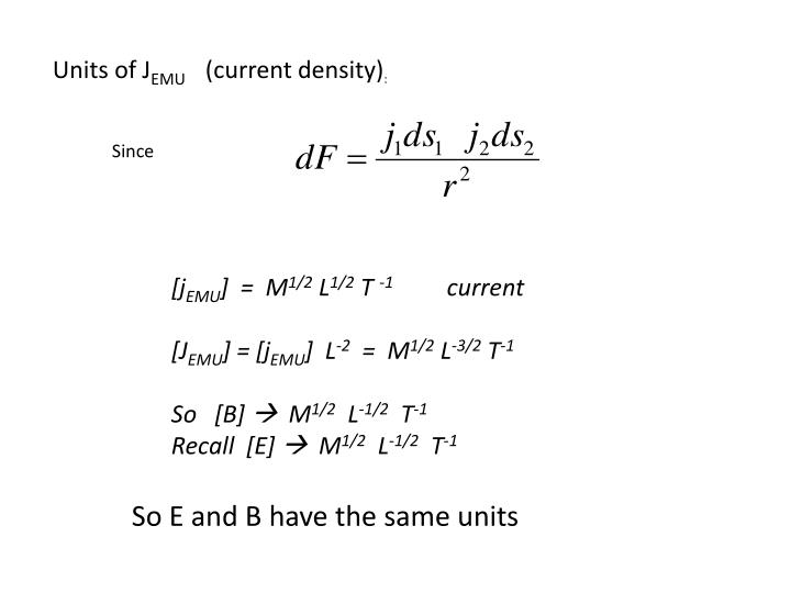 Units of J