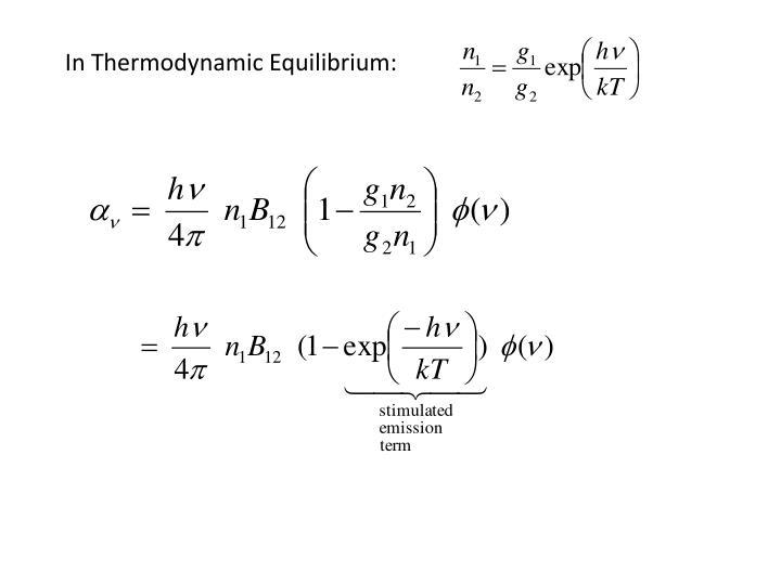 In Thermodynamic Equilibrium: