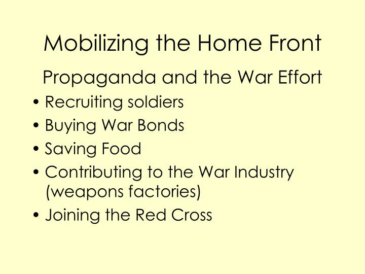 mobilizing the home front n.