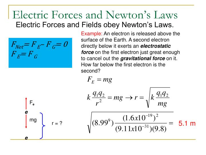 Electric Forces and Newton's Laws
