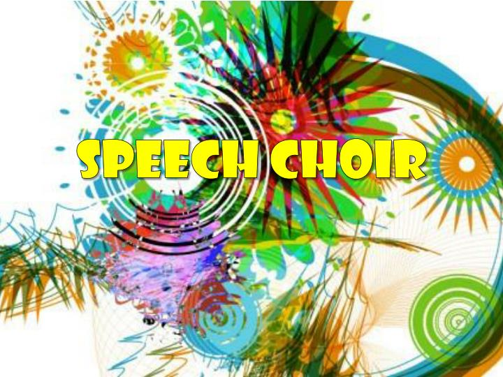speech choir n.