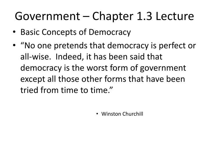 Government chapter 1 3 lecture