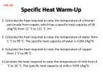 specific heat warm up