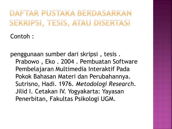 Ppt Penulisan Daftar Pustaka Powerpoint Presentation Id 1919139