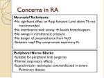 concerns in ra