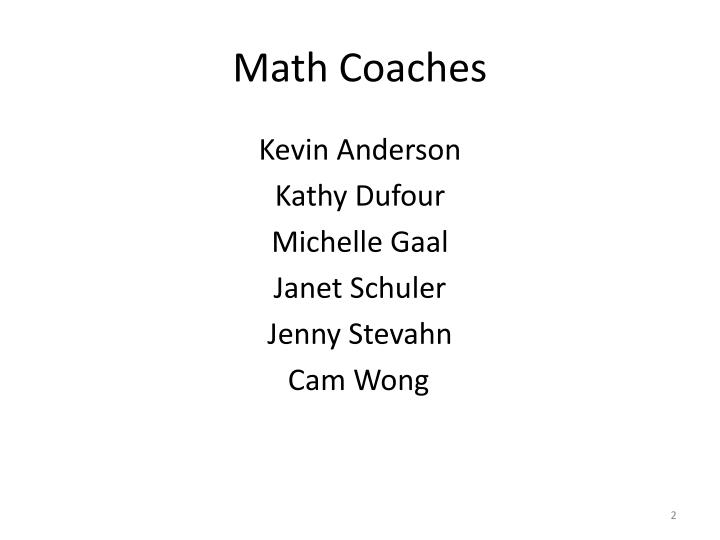 Math coaches