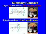 summary concave
