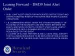 leaning forward d8 d9 joint alert order