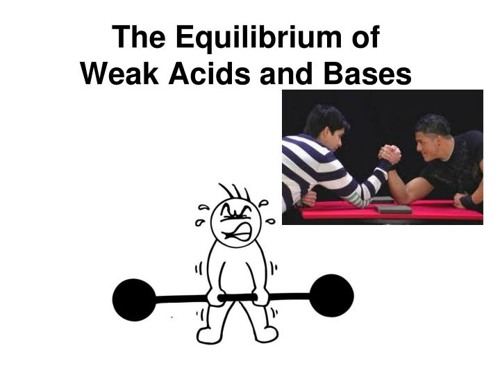 the equilibrium of weak acids and bases n.