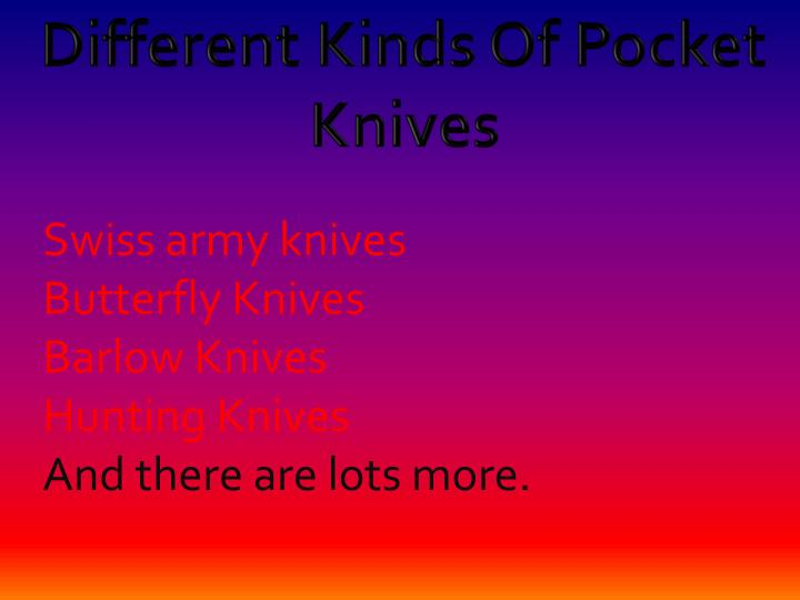 Different Kinds Of Pocket