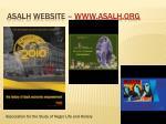 asalh website www asalh org