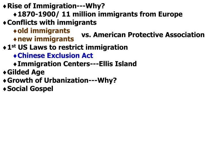 Rise of Immigration---Why?