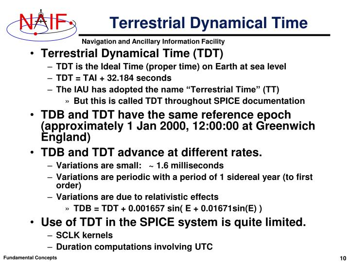 Terrestrial Dynamical Time