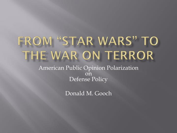 from star wars to the war on terror n.