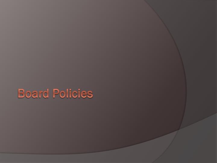 Board Policies