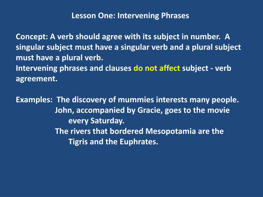 Ppt Lesson One Intervening Phrases Powerpoint Presentation Id