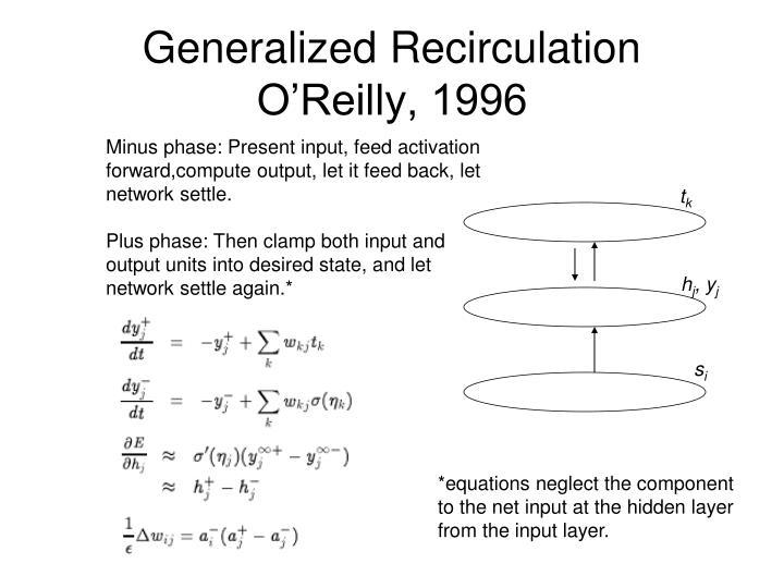 Generalized Recirculation