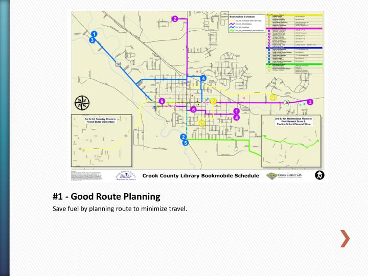 #1 - Good Route Planning