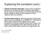 explaining the correlation cont