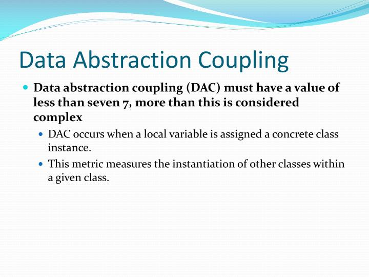 Data Abstraction Coupling