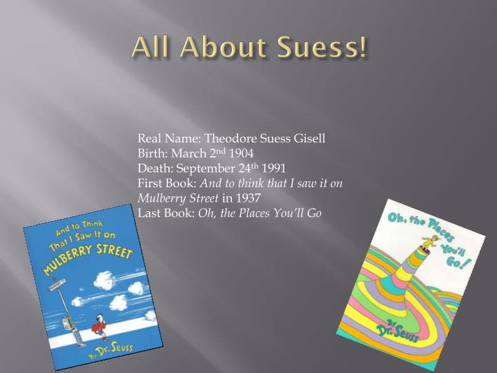 All about suess