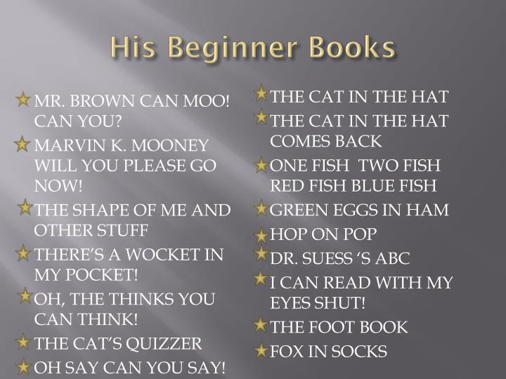 His Beginner Books