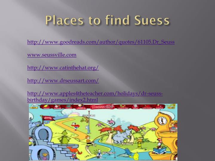 Places to find
