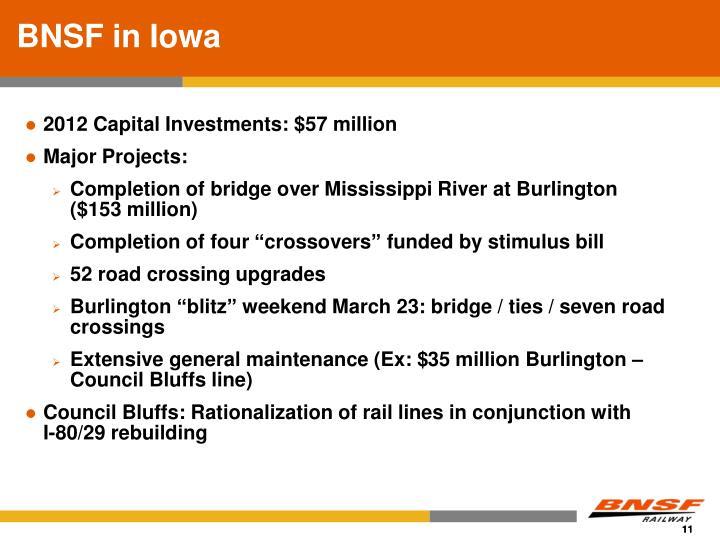 BNSF in Iowa