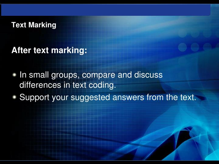 Text Marking