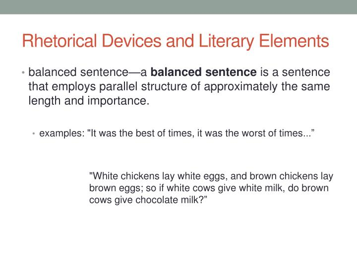 Ppt Rhetorical And Literary Devices Powerpoint Presentation Id