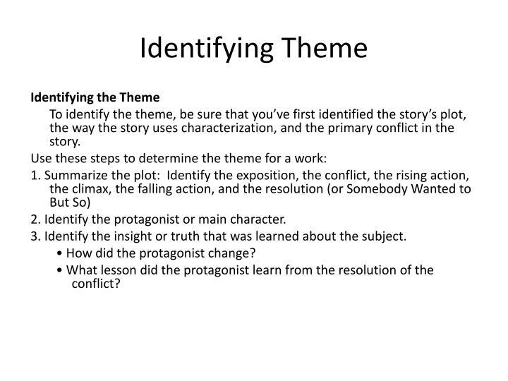 Identifying theme