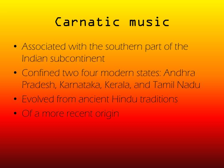 Carnatic music