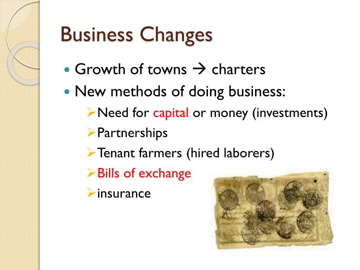 Business Changes