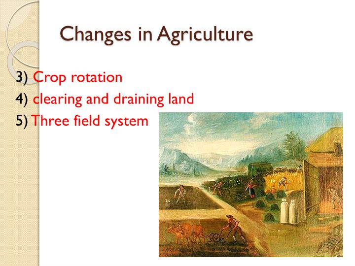 Changes in Agriculture