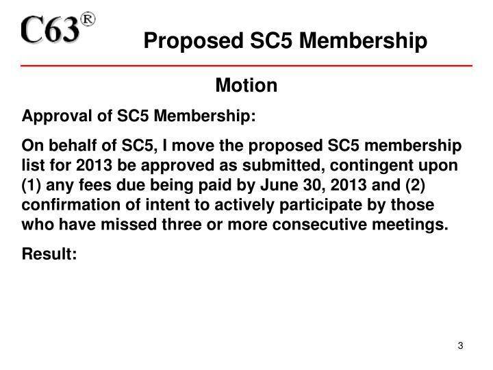 Proposed sc5 membership1