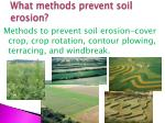 what methods prevent soil erosion