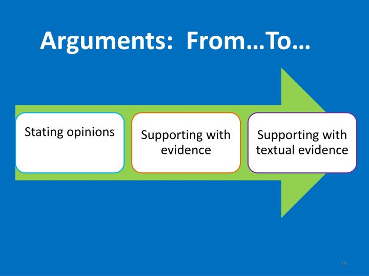 Arguments:  From…To…