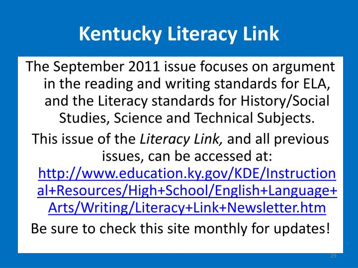 Kentucky Literacy Link