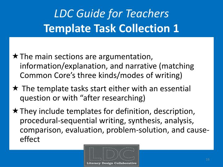 LDC Guide for Teachers