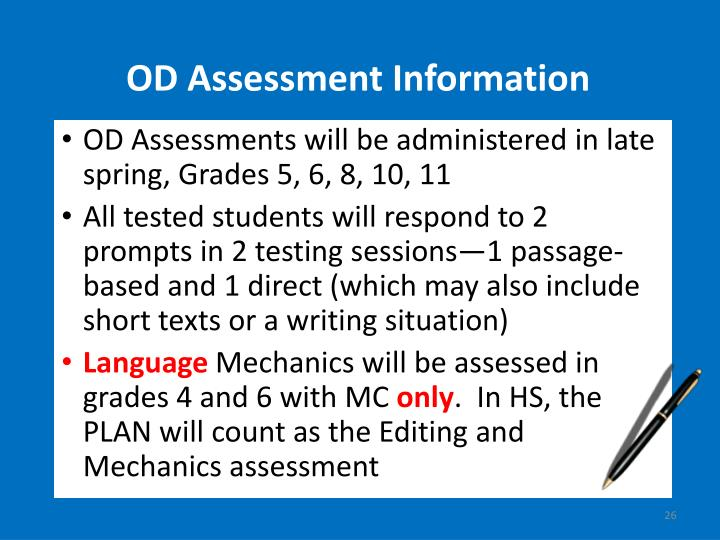 OD Assessment Information