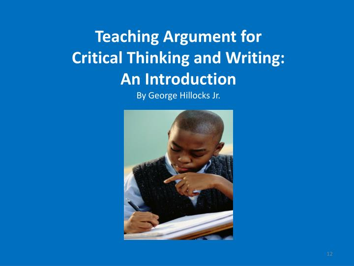 Teaching Argument for