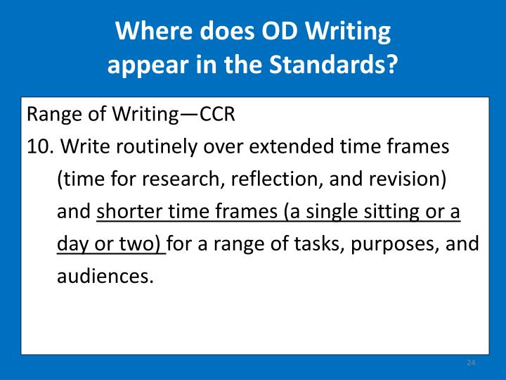 Where does OD Writing