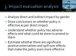 3 impact evaluation analysis
