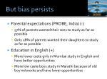 but bias persists