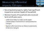 measuring differential impacts ethiopia deininger et al s 2008
