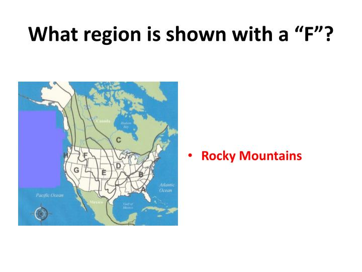 what region is shown with a f n.